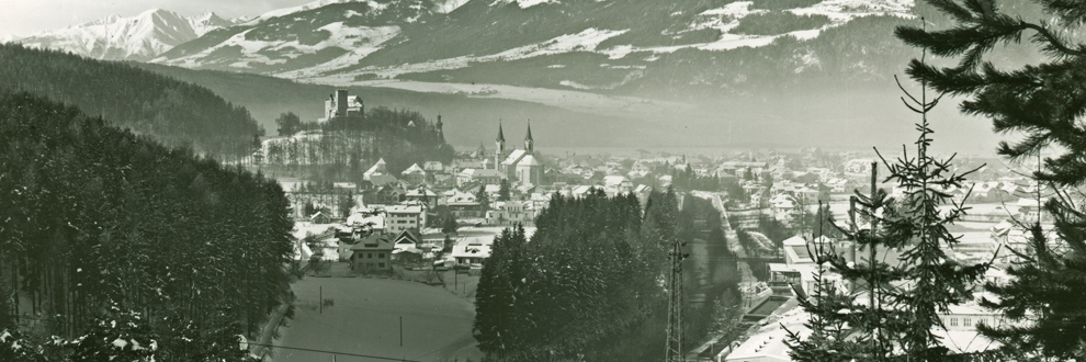 View of Brunico from the East, about 1970